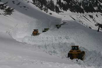 Chinook Pass Snow Removal - Opening Efforts - Week 5 - May 16, 2006