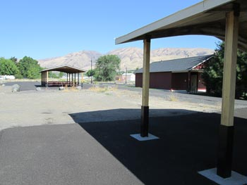 covered picnic areas with ample parking