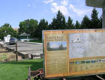 white Pass Scenic Byway Map at Naches Visitors Center